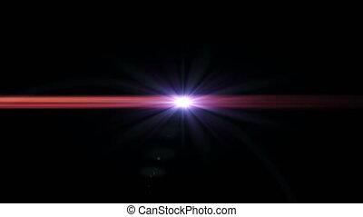 anamorphic lens flare 3840x2160 4K, lights background . -...