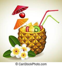 ananas, cocktail