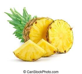 ananas, con, fette