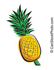 ananas, disegno