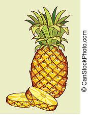 ananas, fruit