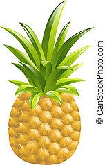 ananas, illustration, icône