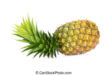 ananas, isolé, blanc, backgound