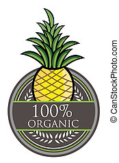 ananas, organico, etichetta