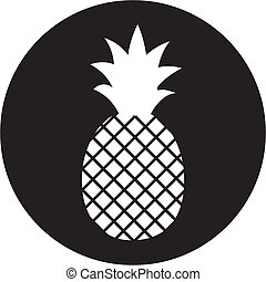 ananas, pictogram