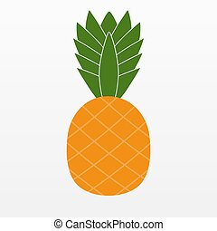 Ananas Pineapple icon isolated on background. Modern flat pictogram, business, marketing, internet concept. Trendy Simple vector symbol for web site design or button to mobile app. Logo illustration.