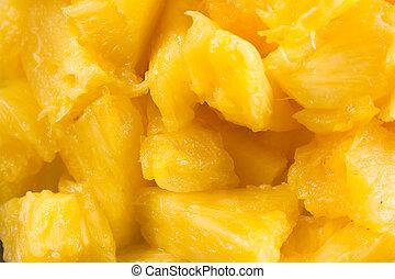 ananas, salat, nära