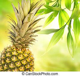 ananas, sur, résumé, arrière plan flou