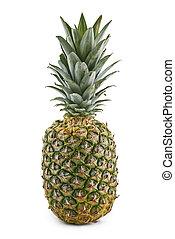 ananas, witte achtergrond, vrijstaand
