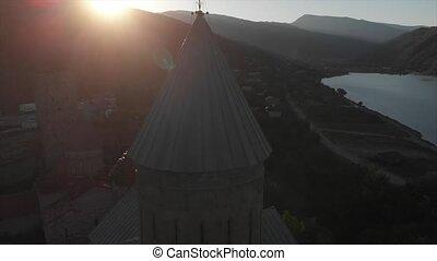 Ananuri complex Aerial video. Ananuri ffortress and zhinvali...