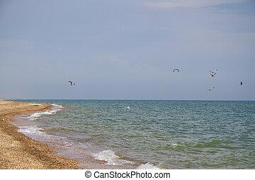 Anapa Beach, Russia. Black Sea view