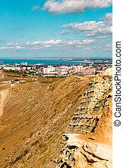Anapa, view of the city, black sea, mountains, Krasnodar region, resort