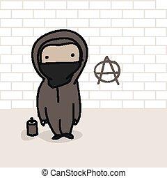 anarchico, cartone animato