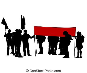 Anarchist whit flag two - People of with large flags on ...