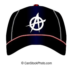 Anarchy Baseball Cap - A black typical baseball cap with...