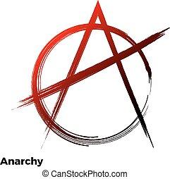 Anarchy grunge symbol vector