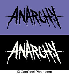 ANARCHY logo - Lettering with single word ANARCHY