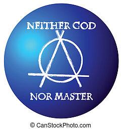 anarchy symbol - Conceptual anarchy symbol badge