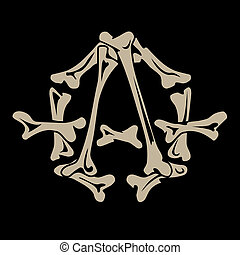 anarchy symbol is made of bones