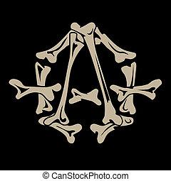anarchy symbol is made of bones