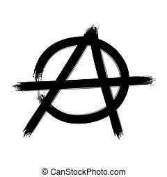 Anarchy symbol. Vector sign