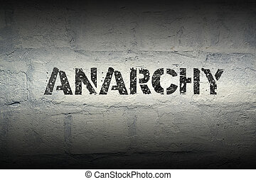 anarchy word gr - anarchy stencil print on the grunge white...