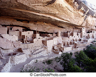 Anasazi City - Cliff Palace, Anasazi Cliff Dwelling, Mesa...