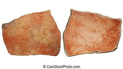 Anasazi clay pottery shard