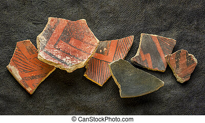 Anasazi Indian pottery artifacts - ancient Native American ...