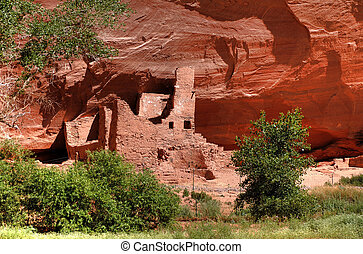 Anasazi Ruins - Anasazi indian ruins in the Canyon de Chelly