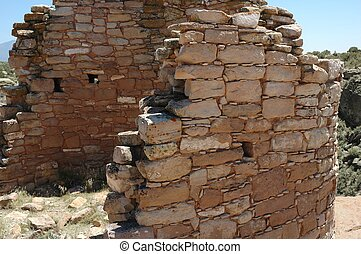 anasazi ruins in the Utah desert Hovenweep National Monument