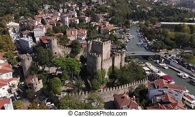 Anadolu Hisar also known as Anatolian Fortress Castle from Istanbul Bosphorus.