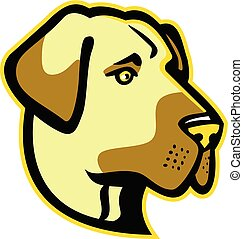 Anatolian Shepherd-HEAD-MASCOT - Mascot icon illustration of...