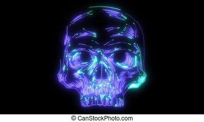 Anatomic Skull Art video laser animation - Anatomic Skull...