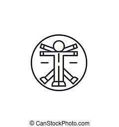 Anatomy linear icon concept. Anatomy line vector sign, symbol, illustration.