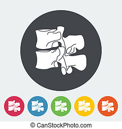 Anatomy spine icon. - Anatomy spine. Single flat icon on the...