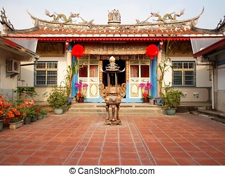 Ancestral Temple in Taiwan - A local temple in southern...