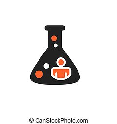 Ancestry or Genealogy Icon with beaker for medical research