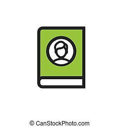 Ancestry or Genealogy Icon with Family Tree Album - Ancestry...