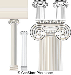 Anchient architecture - Greek Ionic order. Ancient...