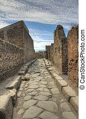 Anchient street in Pompeii