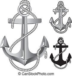 anchor., ασημένια