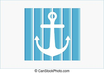 Anchor beach icon vector logo design
