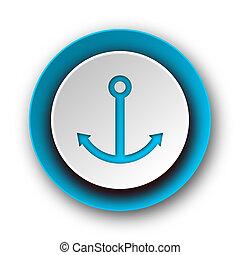 anchor blue modern web icon on white background