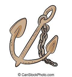anchor Cartoon - Vector Illustration