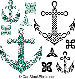 Anchor Celtic - Anchor illustrations inspired from Celtic...