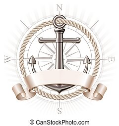 Anchor emblem, vector