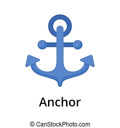 Anchor flat vector illustration. Single object. Icon for ...