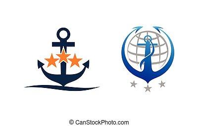 Anchor Globe Template Set