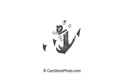 Anchor icon animation isometric best object on white backgound